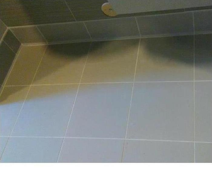 Tile floor in commercial building
